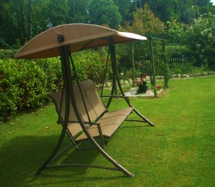 Relax in our Garden Swing at Perrymount Country Home Bed and Breakfast Wexford Ireland